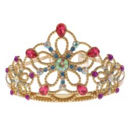 Tiara de oro con gemas preciosas