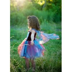 Disfraz de hada azul y magenta (5-6 años)