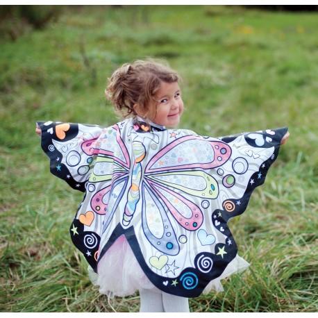 Capa mágica de mariposa para colorear (4-7 años)