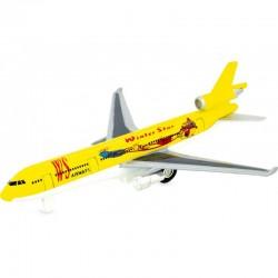 Avión reactivo amarillo