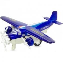 Avión de mensajería azul