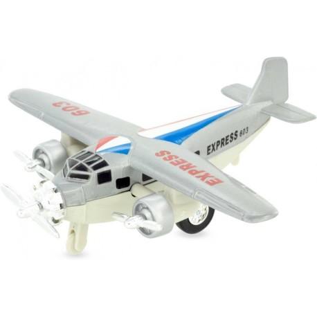 Avión de mensajería gris