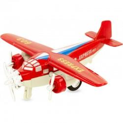 Avión de mensajería rojo