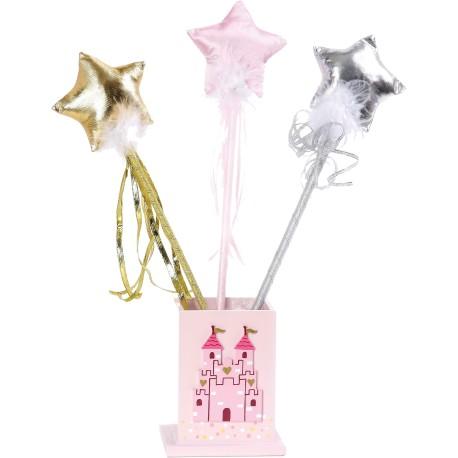 Varita mágica con estrella rosa