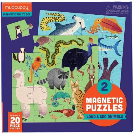 Puzle magnético de animales de la tierra y el mar