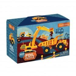 Puzle de 100 piezas con textura de vehículos de obra