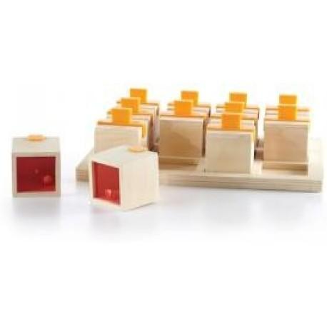 12 cubos de madera con sonidos