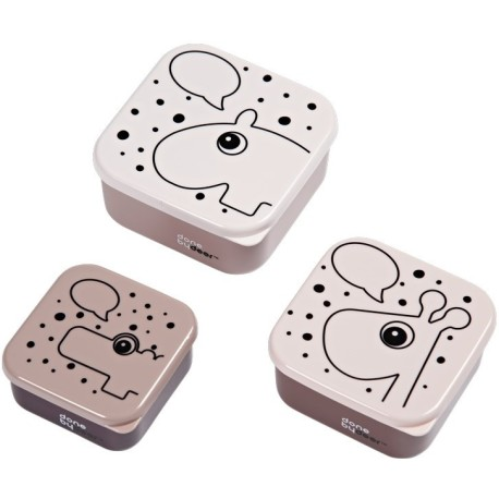 Set de 3 cajas para snack Contour Rosa