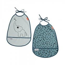 Pack de 2 Baberos impermeables Elphee Azul