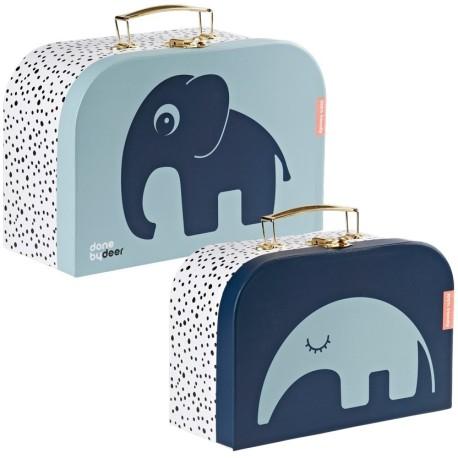 Conjunto de 2 maletas azules
