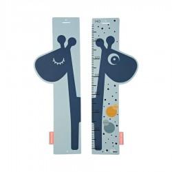 Regla medidora de cartón reversible Raffi azul