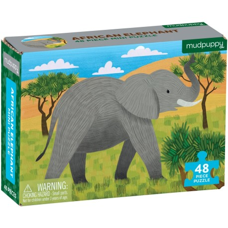 Mini puzle elefante africano de 48 piezas