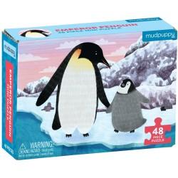 Mini puzle pingüino emperador de 48 piezas