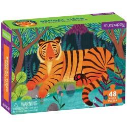 Mini puzle tigre de bengala de 48 piezas
