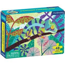 Mini puzle camaleón pantera de 48 piezas