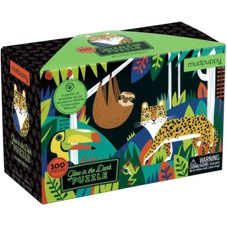 Puzle fluorescente de 100 piezas la selva