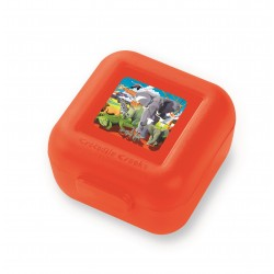 Set de 2 mini fiambreras para snacks (tupper) safari