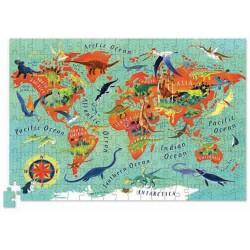 Puzle en caja 200 piezas - Dinosaurios del mundo