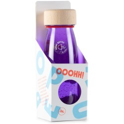 Botella sensorial con objetos flotantes (lila)