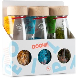 Pack de 3 botellas sensoriales de sonido (nature)