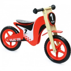 Motocicleta de equilibrio de madera (Wooden balance bike cross - Moto draisienne en bois)