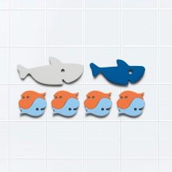 Puzle de baño de tiburones