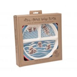 Plato antideslizante con 3 compartimentos Baby Otter