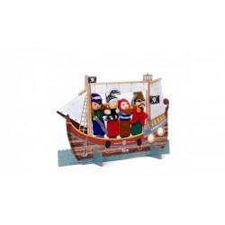 Marionetas de lana de los piratas
