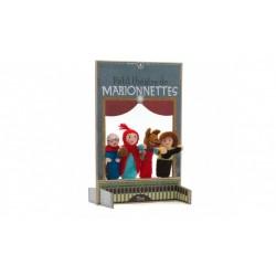 Marionetas de lana de la caperucita roja