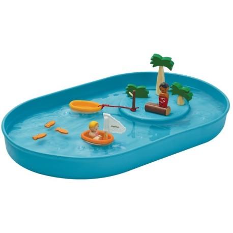 Juego de agua con figuras y mini-piscina