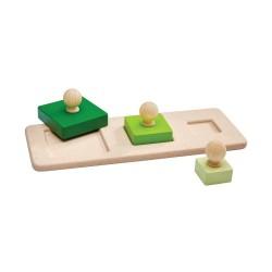 Puzle de formas cuadradas de madera