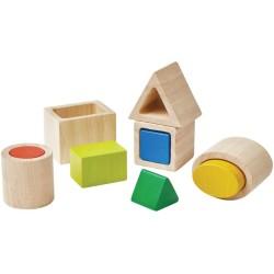 Cubos geométricos encajables de colores