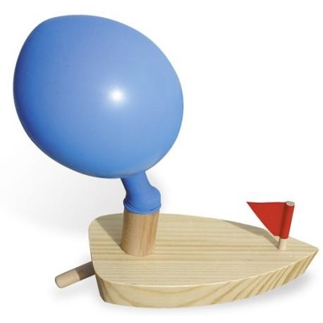 Barco de vela motorizado por un globo (Bateau ballon - Balloon powered boat)