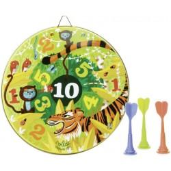 Juego de dardos magnéticos de la jungla (Cible et fléchettes magnétiques Jungle - Jungle magnetic darts game)