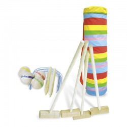 Juego de croquet de madera (Croquet junior 4 joueurs - 4 players junior croquet set in golf bag)