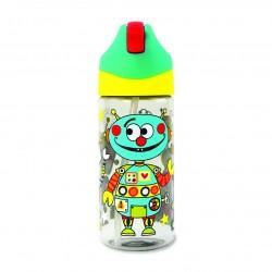 Botella infantil con caña Robot