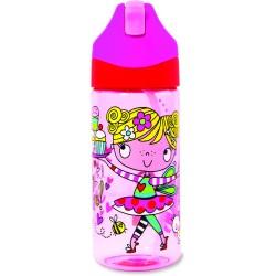 Botella infantil de Tritán con caña Girl