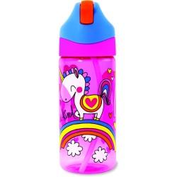Botella infantil de Tritán con caña Unicornio