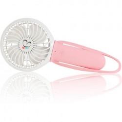 Ventilador rosa con linterna para cochecito