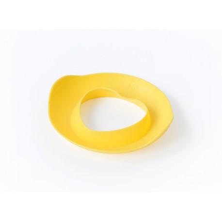 Molde de playa corazón amarillo