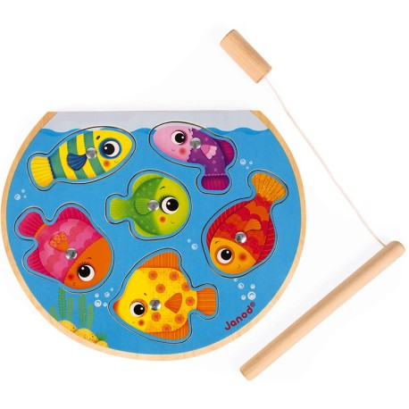 Puzle magnético 2 en 1 con juego de pesca