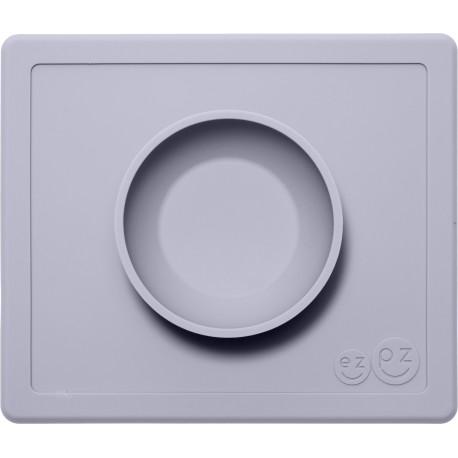 Vajilla infantil de silicona The Happy Bowl gris claro (pewter)