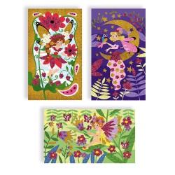 Láminas de hadas personalizables con purpurina