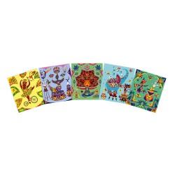 Láminas para decorar con gomas adhesivas de colores