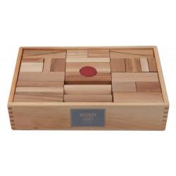 63 Bloques de construcción XL de madera