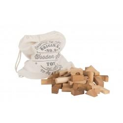 100 Bloques de construcción de madera