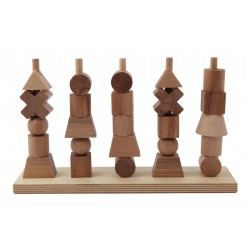Formas apilables de madera