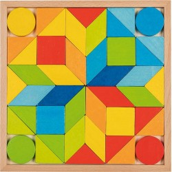 Juego de mosaico de madera Arcoíris