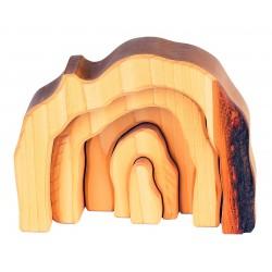 """Puzle de madera natural """"La gruta del árbol"""""""