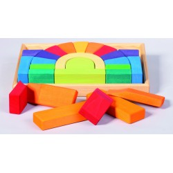 Set para construir un puente de colores de madera